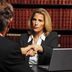 attorney shaking hand