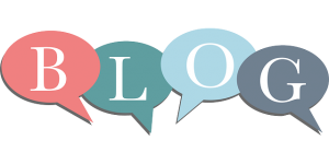 the word blog in speech bubbles