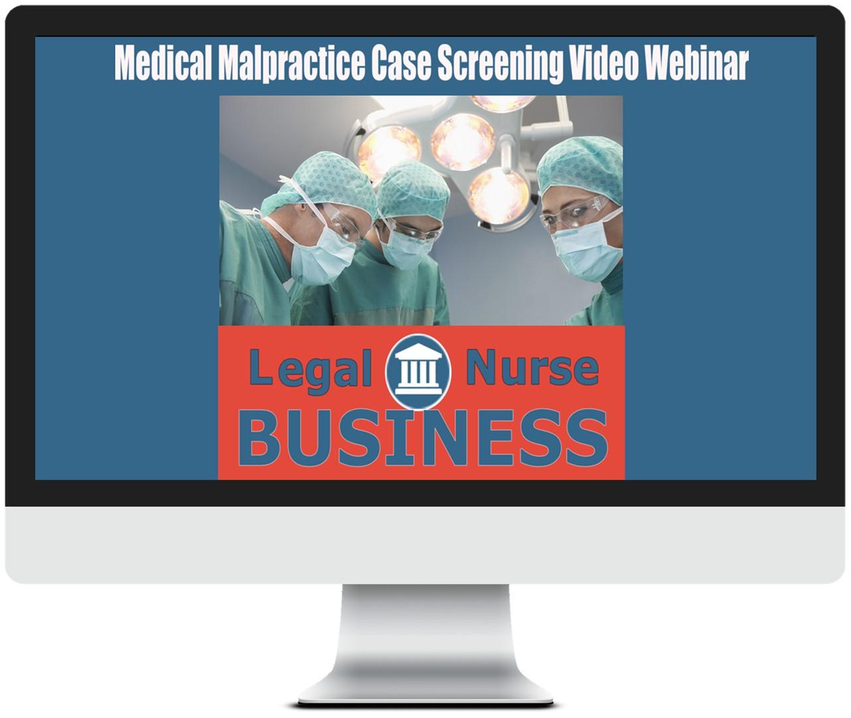 Medical malpractice LNC case screening