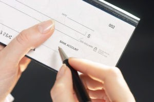 writing a check to LNC employees
