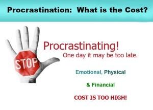 cost of procrastination