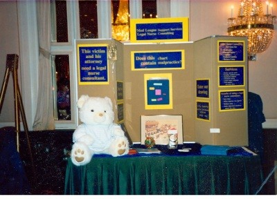 booth used while exhibiting at attorney conferences