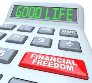 Calculator displaying Good Life