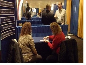Exhibiting at an attorney conference