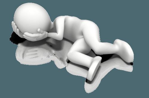 figure laying on ground