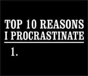 affirmation and procrastination