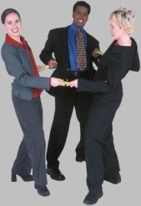 three business people
