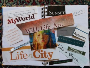 vision board to overcome defeatist mindset